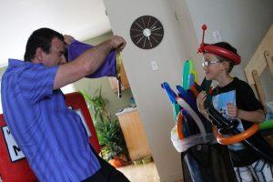 Monsieur S le magicien pour fête d'enfants avec Émile
